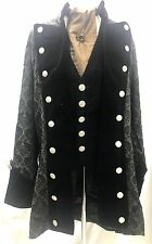 Raven 4pcs SteampunkJacket,waistcoat,cravat,Tie pin, Outfit In Size 42/44 Inches