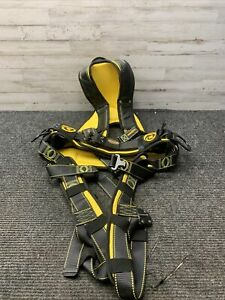 Used Guardian Fall Protection Cyclone Construction Harness XXL Black/Yellow
