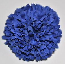 "3"" Royal Blue Carnation Silk Flower Hair Clip Wedding Handmade"