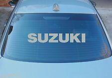 SUZUKI LARGE REAR WINDOW STICKER GRAPHICS 580mm x 95mm CHOICE OF COLOURS