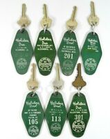 LOT of 7 Vtg HOLIDAY INN Hotel Key FOB's Various US CITIES