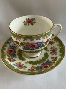 Vintage Old Royal Bone China Colorful Floral Tea Cup and Saucer Made England
