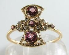 9Carat Diamond Yellow Gold Ring Victorian Fine Jewellery
