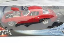 1966 Chevy Corvette Pro Street Red Hotwheels 1:18 Scale Diecast 29226