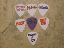 80's Rock band  SINGLE SIDED PICTURE GUITAR PICKS  Set of 7