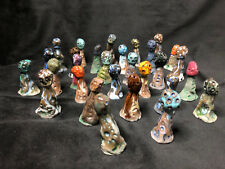 Army of Tiny Ceramic Mushrooms - Hand Sculpted - Direct from the Artist