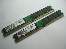 2GB RAM DDR-2 Kingston (2 x 1GB Module) KVR800D2N5/1G DDR2 PC2-6400 800Mhz # E