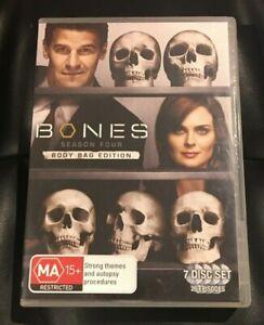 Bones : Season 4 : (2009 : 7 Disc DVD Set) Very Good Condition Region 4