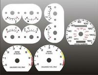 1990-1993 Ford Mustang 160 mph Dash Cluster White Face Gauges 90-93