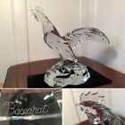 Rare BACCARAT Huge Solid Crystal HERITAGE ROOSTER Sculpture Chinese New Year