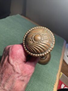 Vintage Brass Door Knob. Early 1900s. Variable Length. See Details.