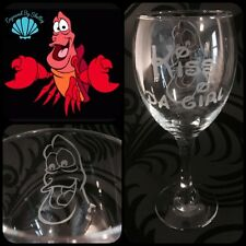 Personalizado Disney Sebastian Cangrejo Copa De Vino! La Pequeña Sirena Hecho A Mano De Regalo