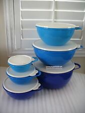 Tupperware Thatsa Bowl Tower 6pc Complete Set 42, 32, 19, 12, 6 & 2.5 Cups New