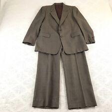 Ernesto Bellini Smiths 44R brown vintage wool blend suit 2pc