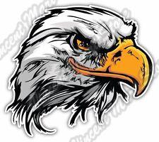 "Bald Eagle Hawk White Head Bird Gift Idea Car Bumper Vinyl Sticker Decal 5""X4"""
