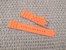 Silicone Rubber Divers Watch Strap Orange 22mm