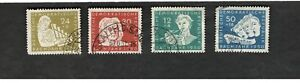 1950 Germany DDR SCOTT #B17-20 MUSIC  used stamps