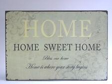Placa de Chapa Home Sweet Dios bendiga Our Puerta Señal para casa