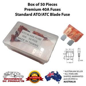 50pcs 40 Amp High Quality Standard Blade Fuse ATC/ATO 40A Orange PREMIUM QUALITY