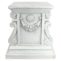 "Classic Statuary Plinth Design Toscano 15"" With Antique Stone Finish"