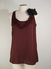 Ann Taylor Loft Fabric Necklace Rosette Tie Cami Shell Top S NWT