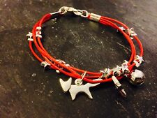 Silver Plated Star Cord Bracelet Pendant Charms Christmas Fox Red