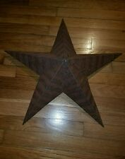 Rustic Genuine Amish Quality Primitive 22 inch Barn Star USA Made Natural Rush