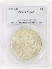 1885-O United States Morgan Silver One Dollar $1 Certified MS63 PCGS Coin