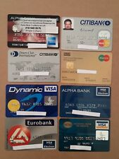 8 Expired Credit Cards For Collectors - MasterCard - VISA Lot (#9)