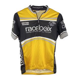 Sugoi womens 2004 Racelogix Cycling Jersey Small Race Cut Yellow Black White EUC