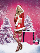 Cutie Claus Sexy Fur Trim Velvet Ladies Christmas Costume Size fits Most