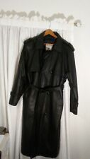 Mans full length leather Wilda trenchcoat size medium in excellent condition.