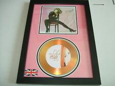 belinda carlisle  SIGNED  GOLD CD  DISC