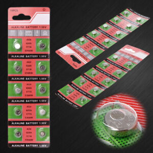 10Pcs AG4 LR626 377 1.55V Alkaline Button Coin Cells Watch Battery Batteries