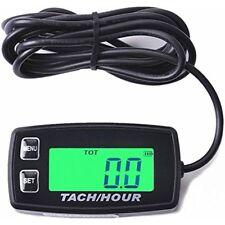 Digital Tachometer Hour Meter w/ Max RPM Recall 2/4 Stroke Backlit Go Kart atv