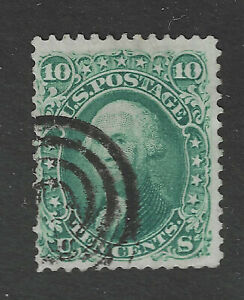 USA Scott # 68 2 Perfs Nibbed Bottom Left Used Stamp US