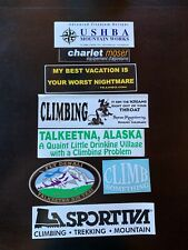 8  Climbing Related Bumper stickers