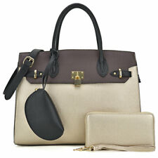 Women Large Handbags Faux Leather Satchel Purse with Matching Wallet mini Pouch