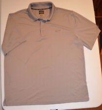 Greg Norman Gray Play Dry Shark Logo Performance s/s polo (L) Golf Five Iron