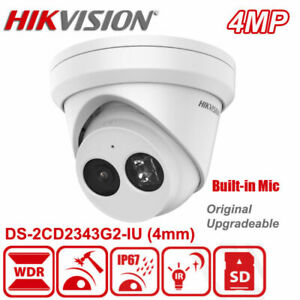 Hikvision DS-2CD2343G2-IU 4MP WDR Turret Built-in Mic CCTV Network IP Camera 4mm