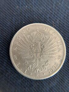 Moneta Coin 1 LIRA REGNO D'ITALIA Vittorio Emanuele III 1902