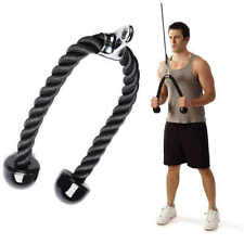 Double Tricep Rope Pull Down Press Cable Attachment Gym Exercise Bodybuilding