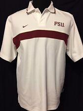 Florida State Seminoles FSU College Team Nike Embroidered Large White Polo Shirt