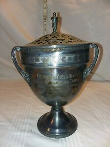 Vintage Wallace Brothers Silverplate Trophy Cup Engraved Kiwanis Agricultural
