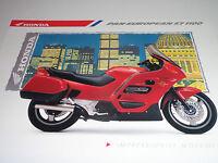 Honda ST1100 Pan-European Motorcycle Sales Brochure 1989