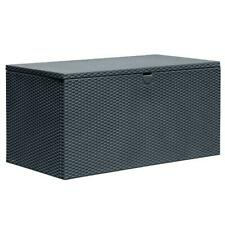 Arrow Storage Spacemaker Deck Box Poolside Outdoor Patio Container Anthracite