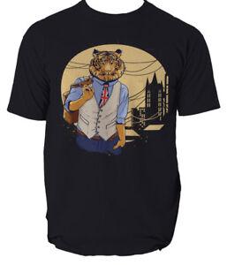 Tiger t shirt UK Great Britain cool design S-3XL