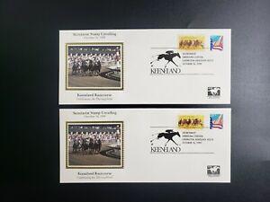 Secretariat Stamp Lot (2) Unveiling October 1999 Keeneland Horse Racecourse