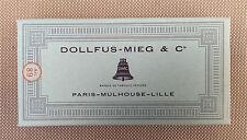 Anciennes boite de file à broder canevas broderie Dollfus-Mieg DMC art populaire