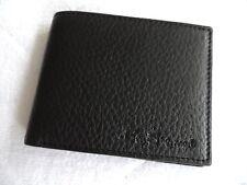 BEN SHERMAN Black Leather Bifold WALLET Notes Card BRAND NEW